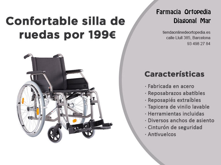 Confortable silla de ruedas en barcelona por 199 - Sillas de ruedas segunda mano barcelona ...