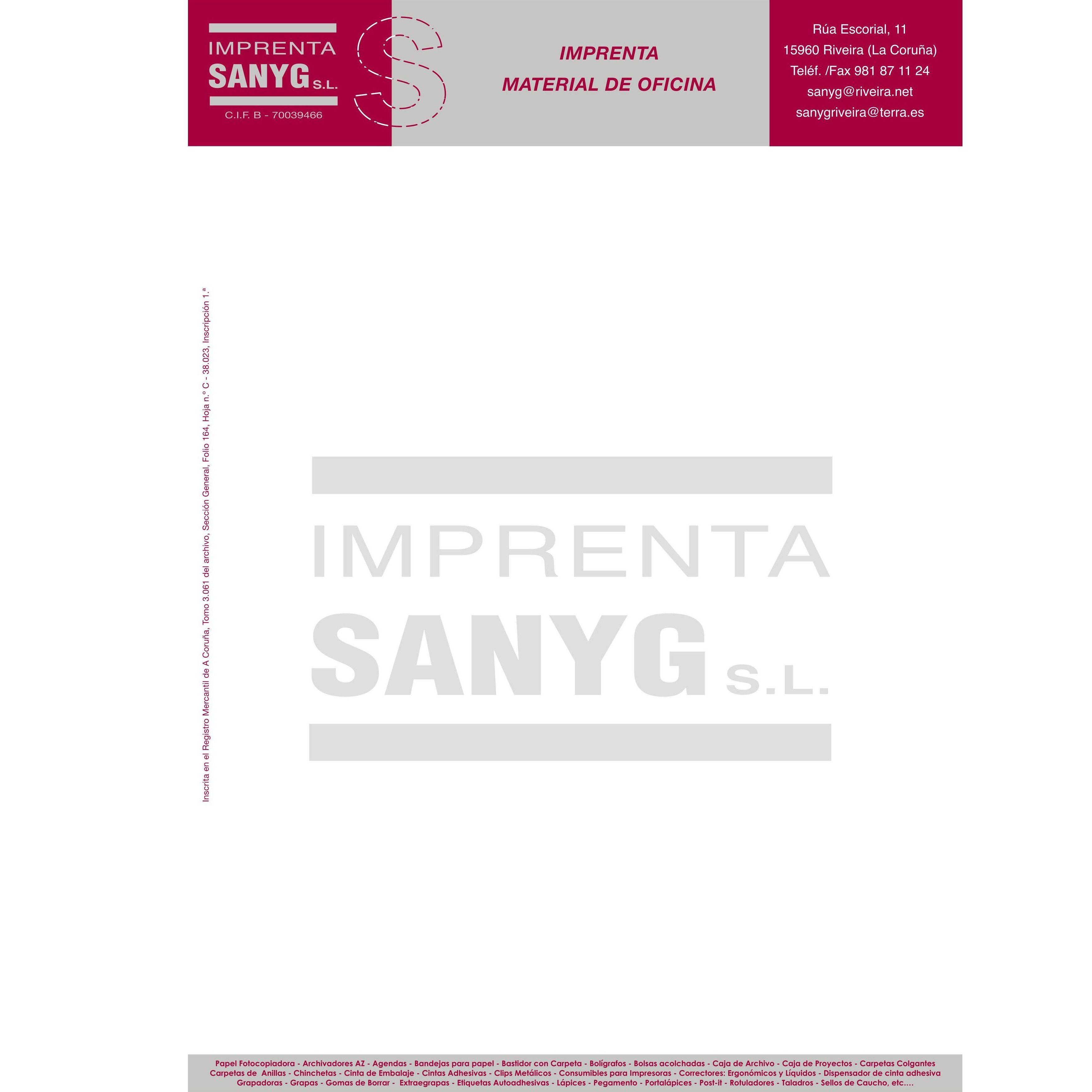 Artes gr ficas material de oficina de imprenta sanyg - Material de oficina vigo ...