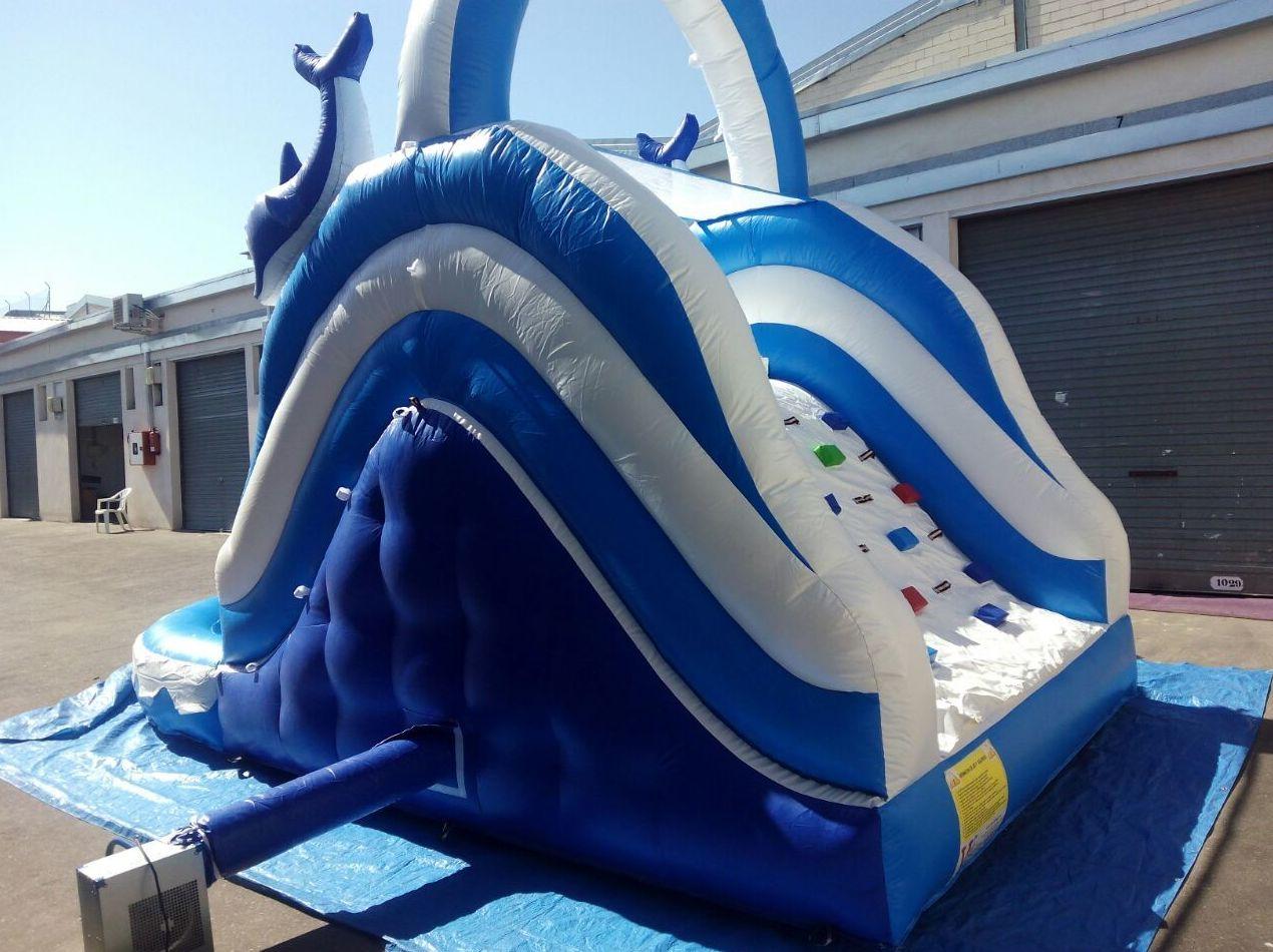 Tobog n con piscina delf n 7x5x4 productos de viva hinchables for Piscina 2x3 metros