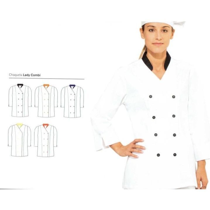 Chaquetas cocina m c y m l y 3 4 se ora ropa de trabajo for Chaquetas de cocina originales
