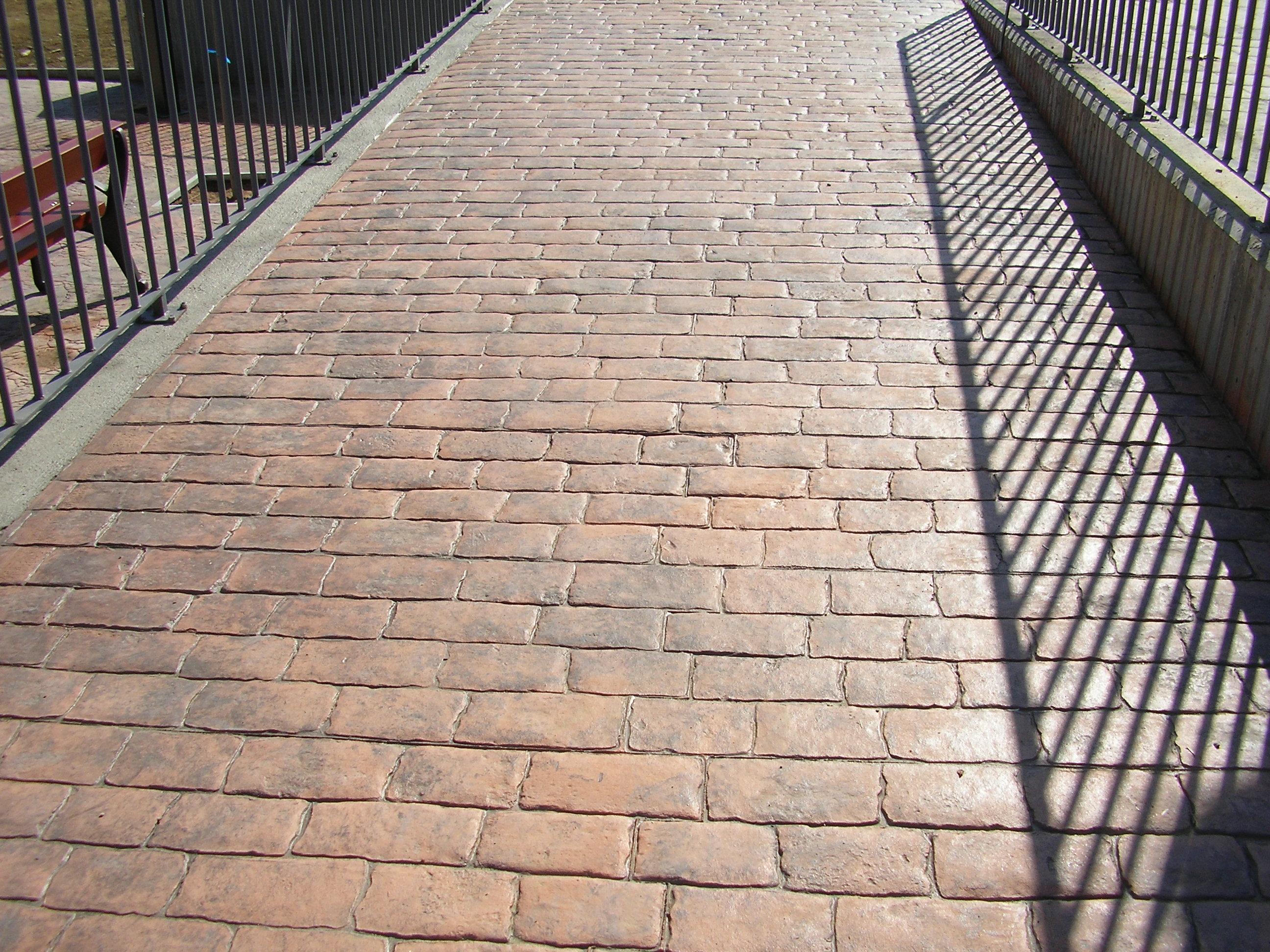 Pavimento morcret estampado adoq rustico cat logo Hormigon impreso rustico