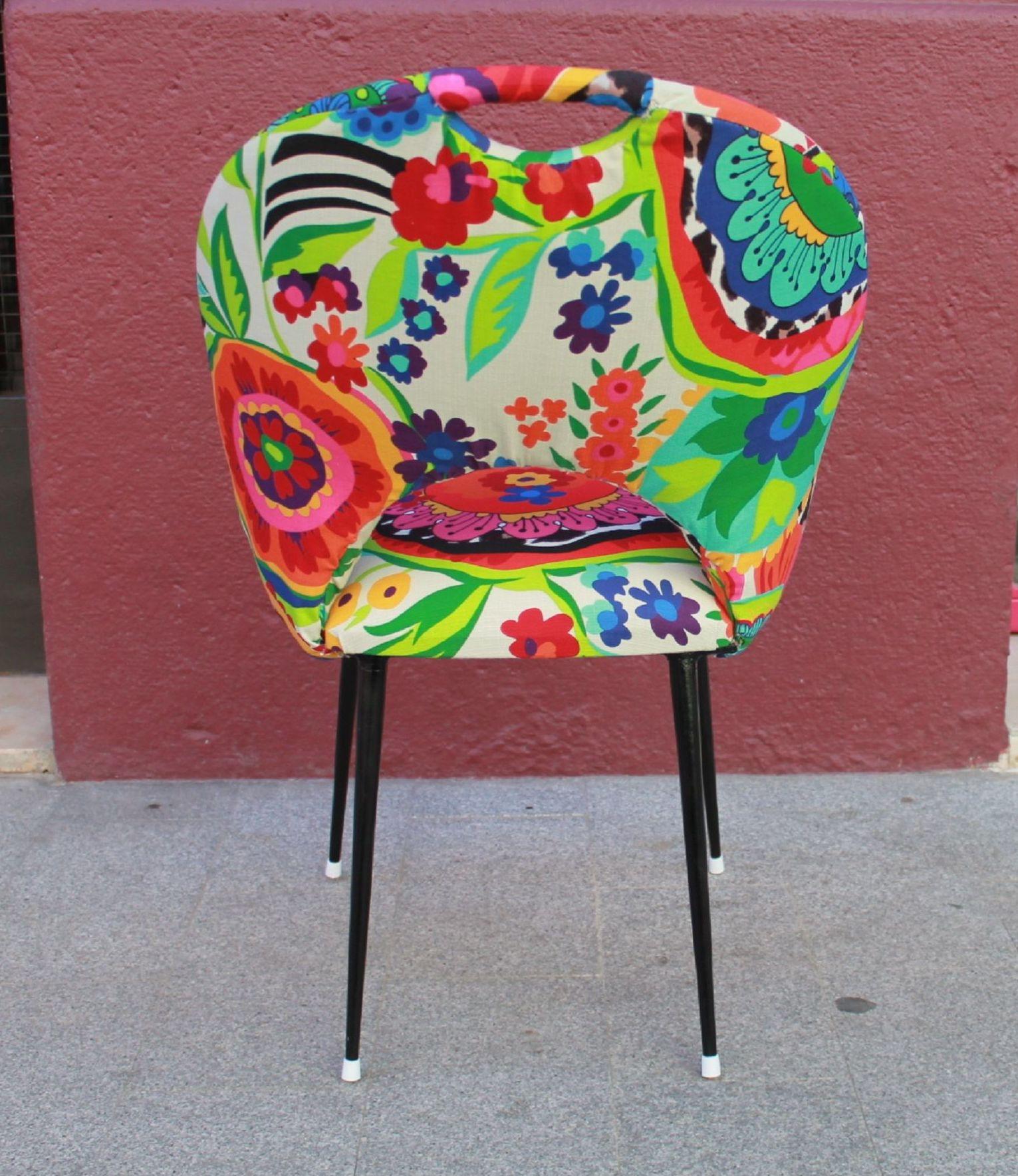 Silla francesa con tapizado estampado Valencia