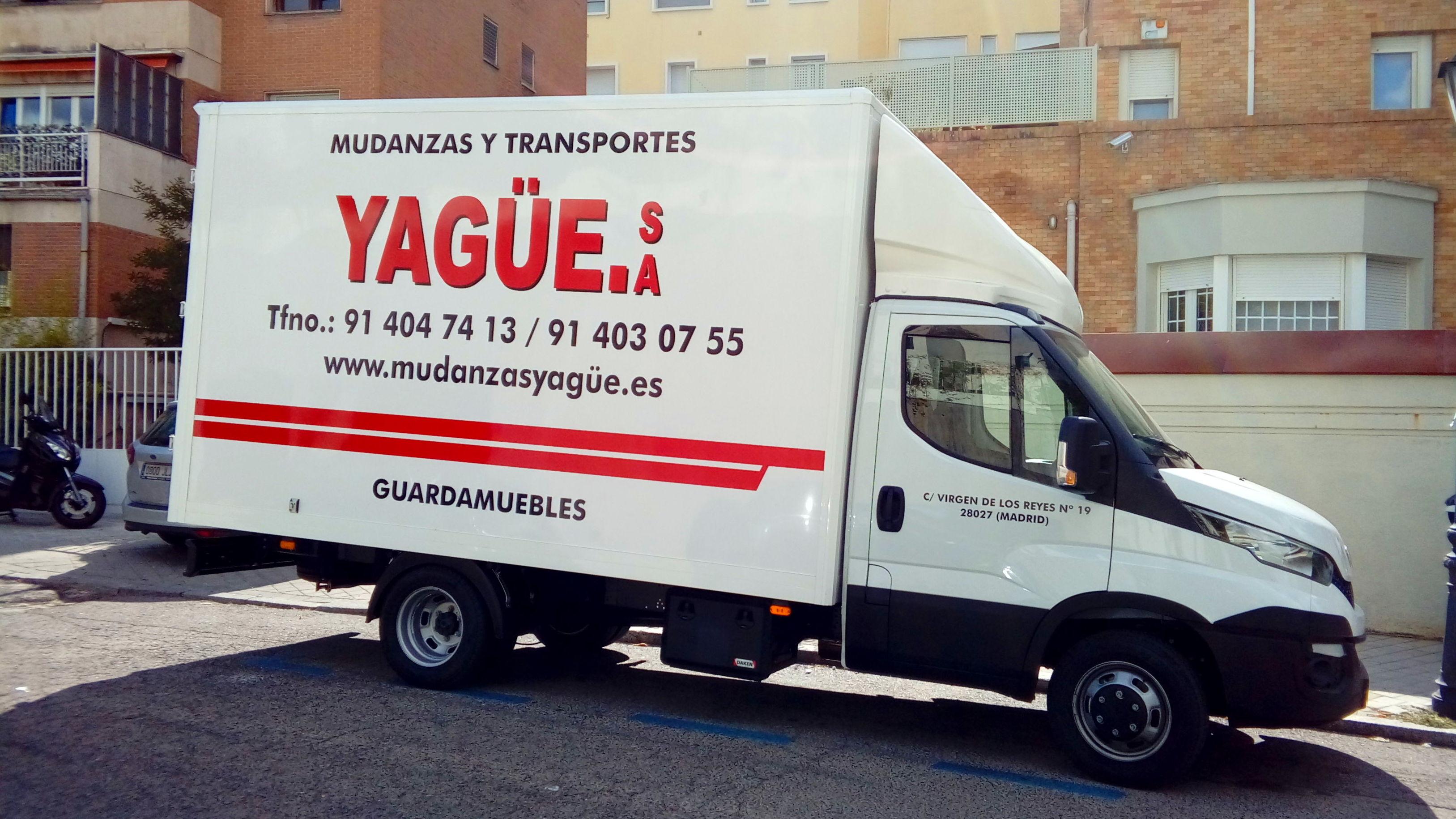 TRANSPORTE NACIONAL: SERVICIOS  de Mudanzas Yagüe              914047413