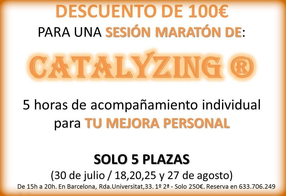 Descuento 100€ sesión Maratón Catalyzing