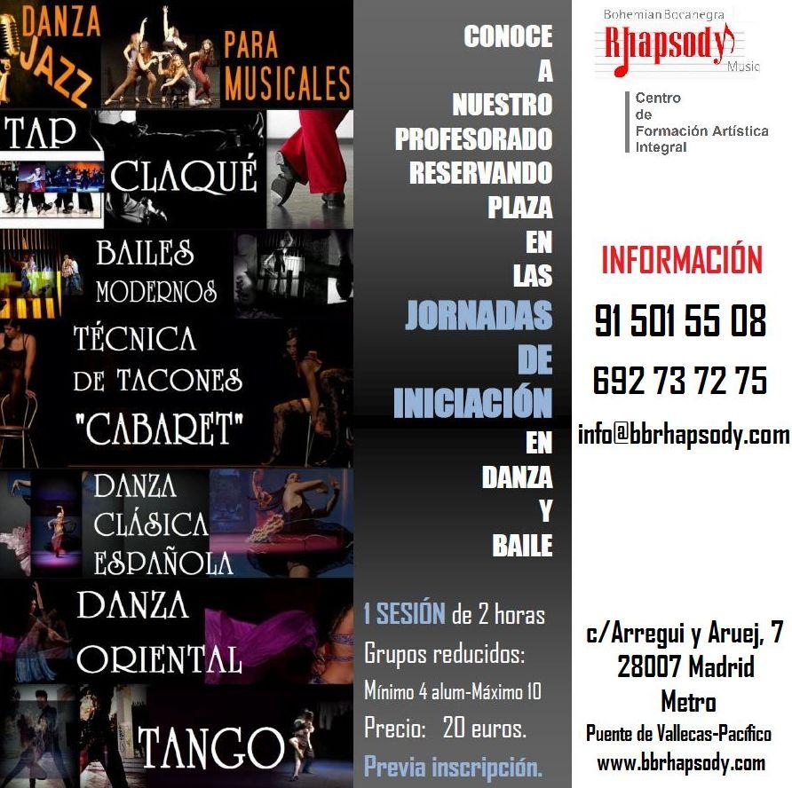 Jornadas de Iniciación en danza y baile