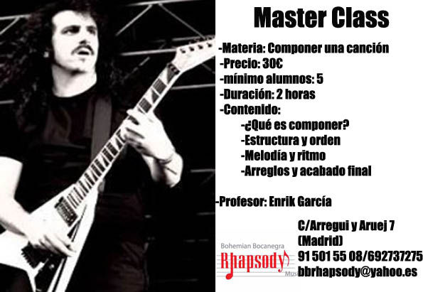 MASTER CLASS COMPONER UNA CANCIÓN