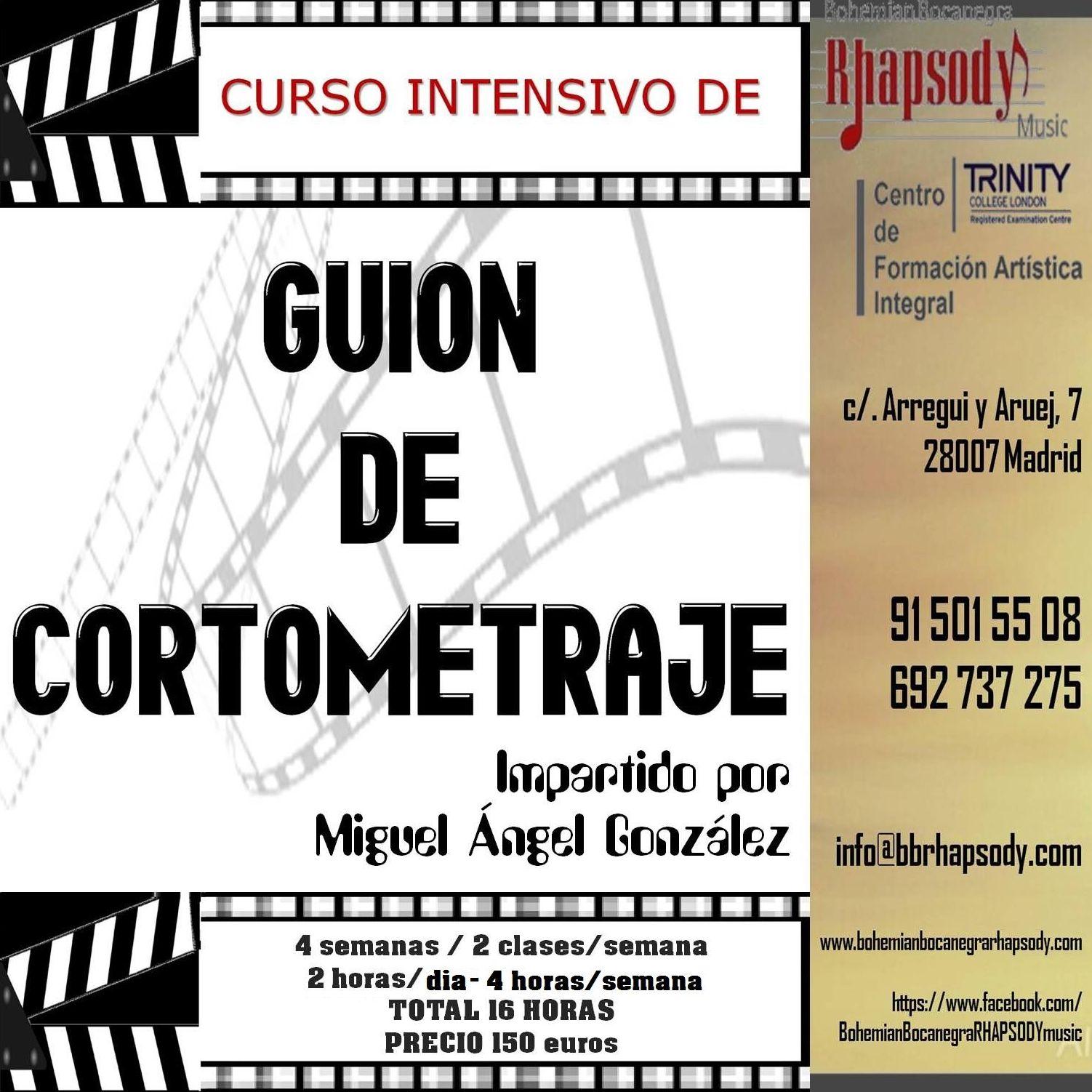 GUIÓN de CORTOMETRAJE impartido por Miguel Ángel González