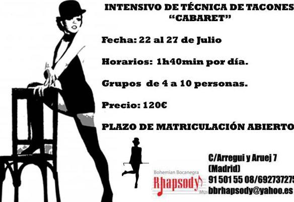 INTENSIVO DE TÉCNICA DE TACONES \u0022CABARET\u0022