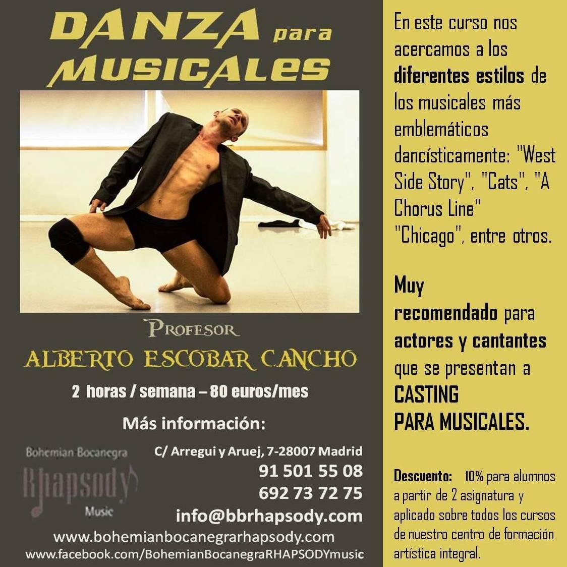 DANZA MUSICALES con ALBERTO ESCOBAR CANCHO