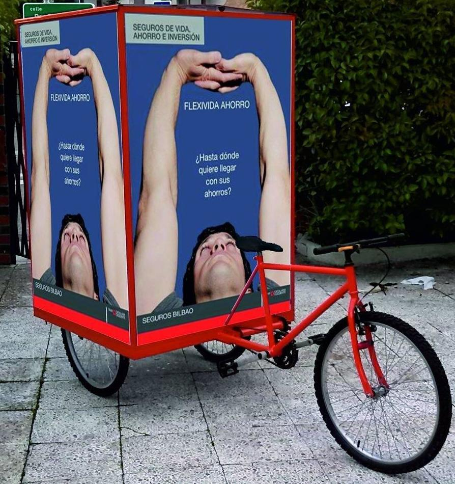 Publicidad en triciclos BTL en Madrid