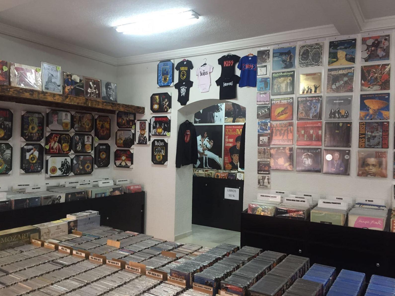 Venta de discos y DVD en Madrid