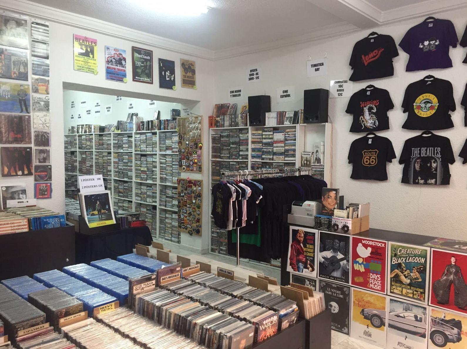 Tienda de discos en Madrid