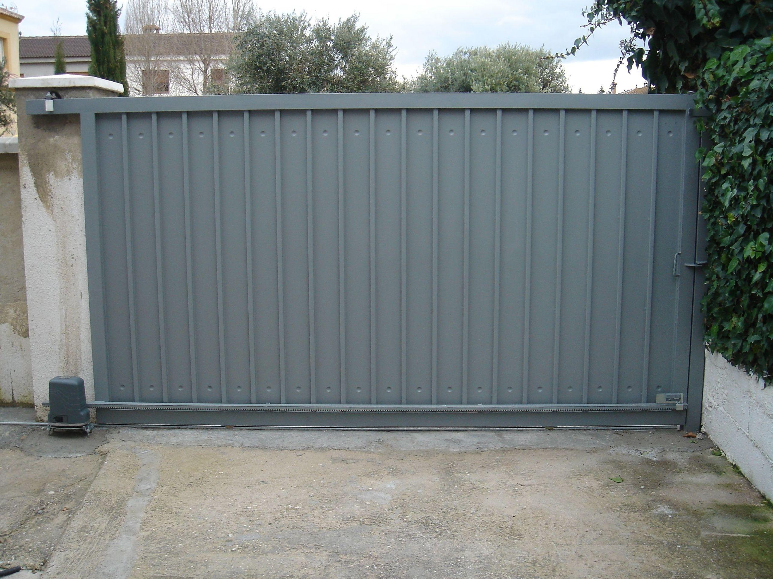 puerta corredera garaje precio. gallery of puertas de garaje with