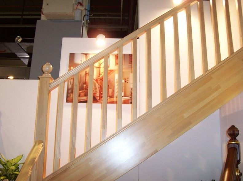 pasamanos de madera para escalera