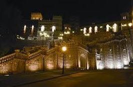 Escalinata de noche Teruel