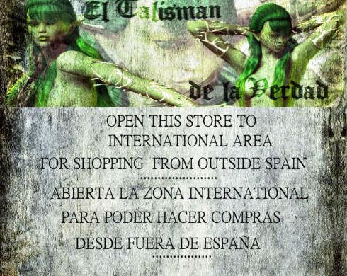 Open to Internacional Area-Abierta zona Internacional para poder hacer compras fuera de España