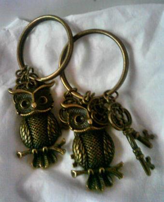 Amuleto llave con buho