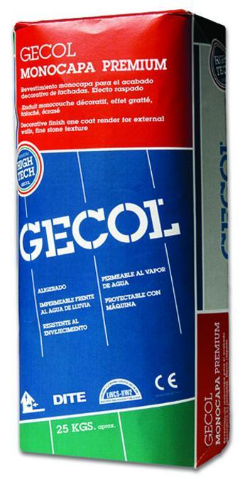 Mortero monocapa premium gecol cat logo de materiales de - Mortero monocapa colores ...