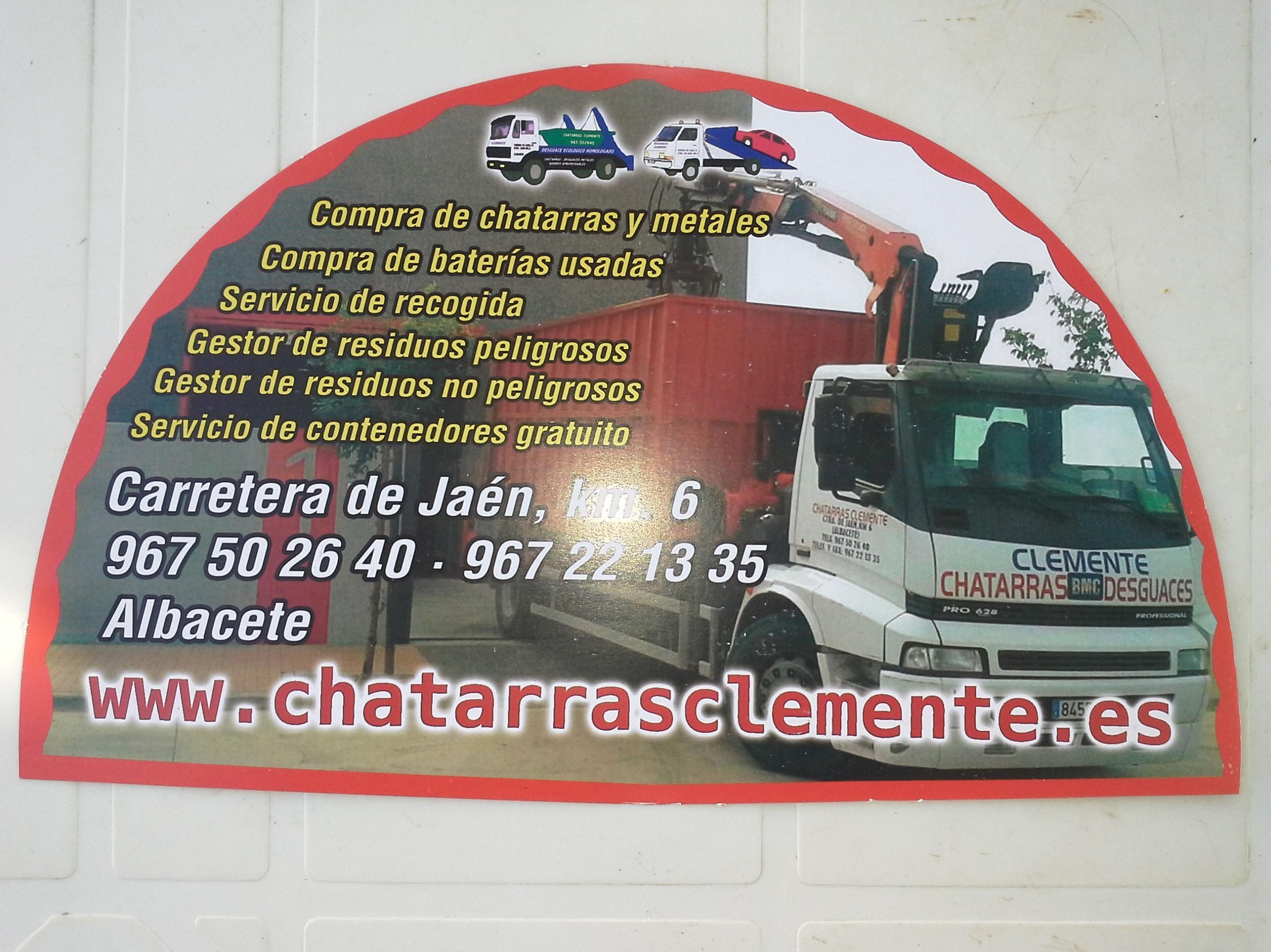 Abanicos repartidos por Chatarras Clemente en la feria de Albacete 2014