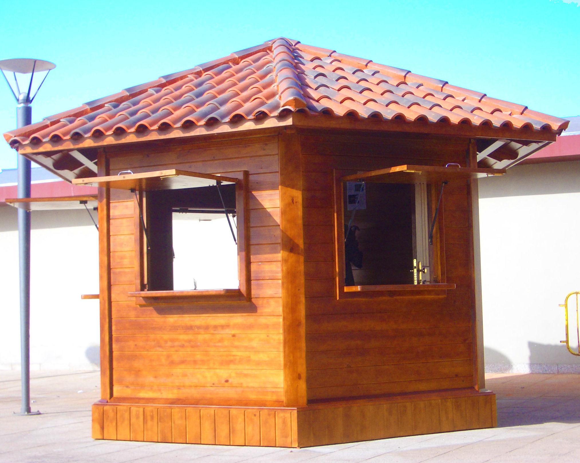 Caba as jard n garajes kioskos y casitas ni os for Fotos de kioscos de madera