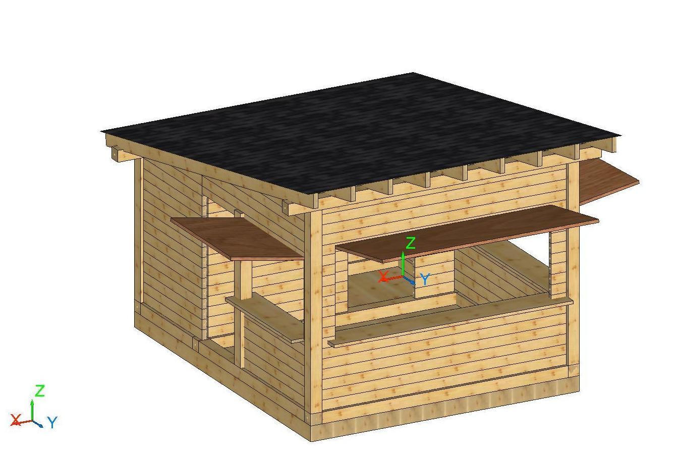 Fabricantes canarios de kioscos y chiringuitos de madera for Kiosco de madera para jardin