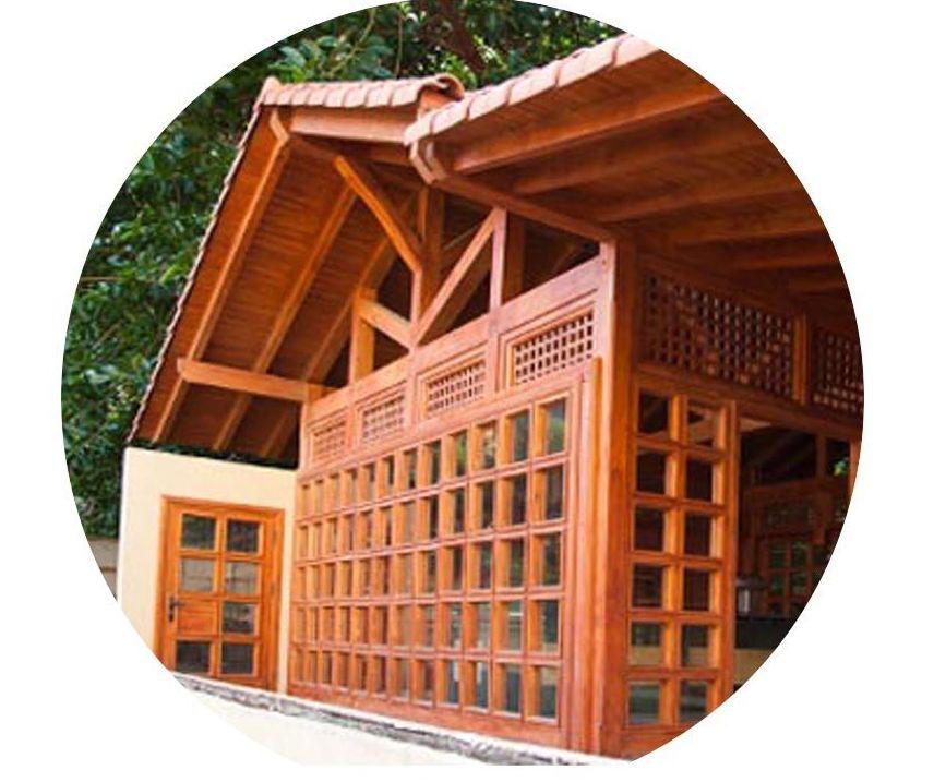 Foto 153 de casas de madera en tacoronte cortelima - Estructuras de madera laminada ...
