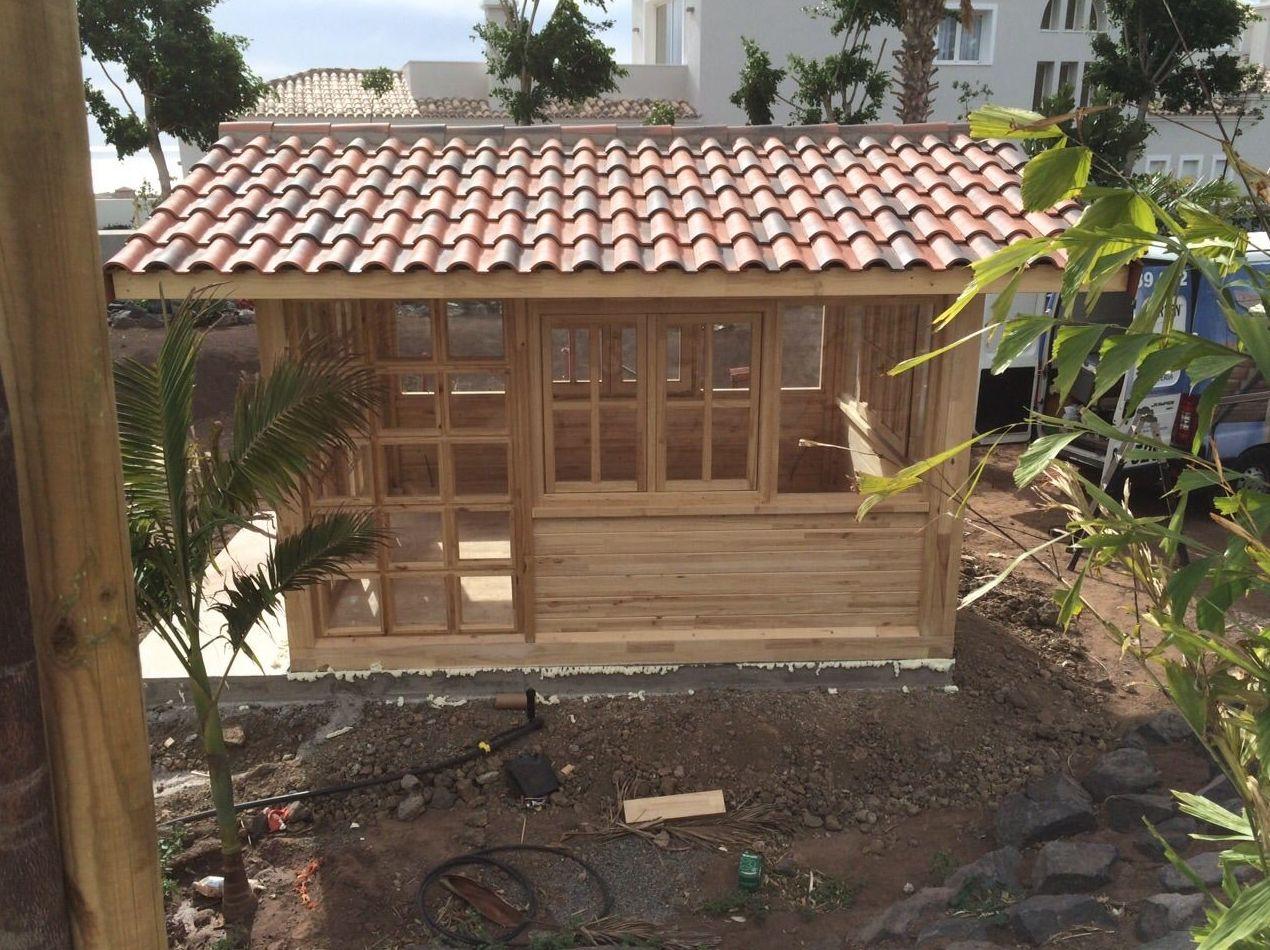 Caba as jard n garajes kioskos y casitas ni os for Cabanas para jardin