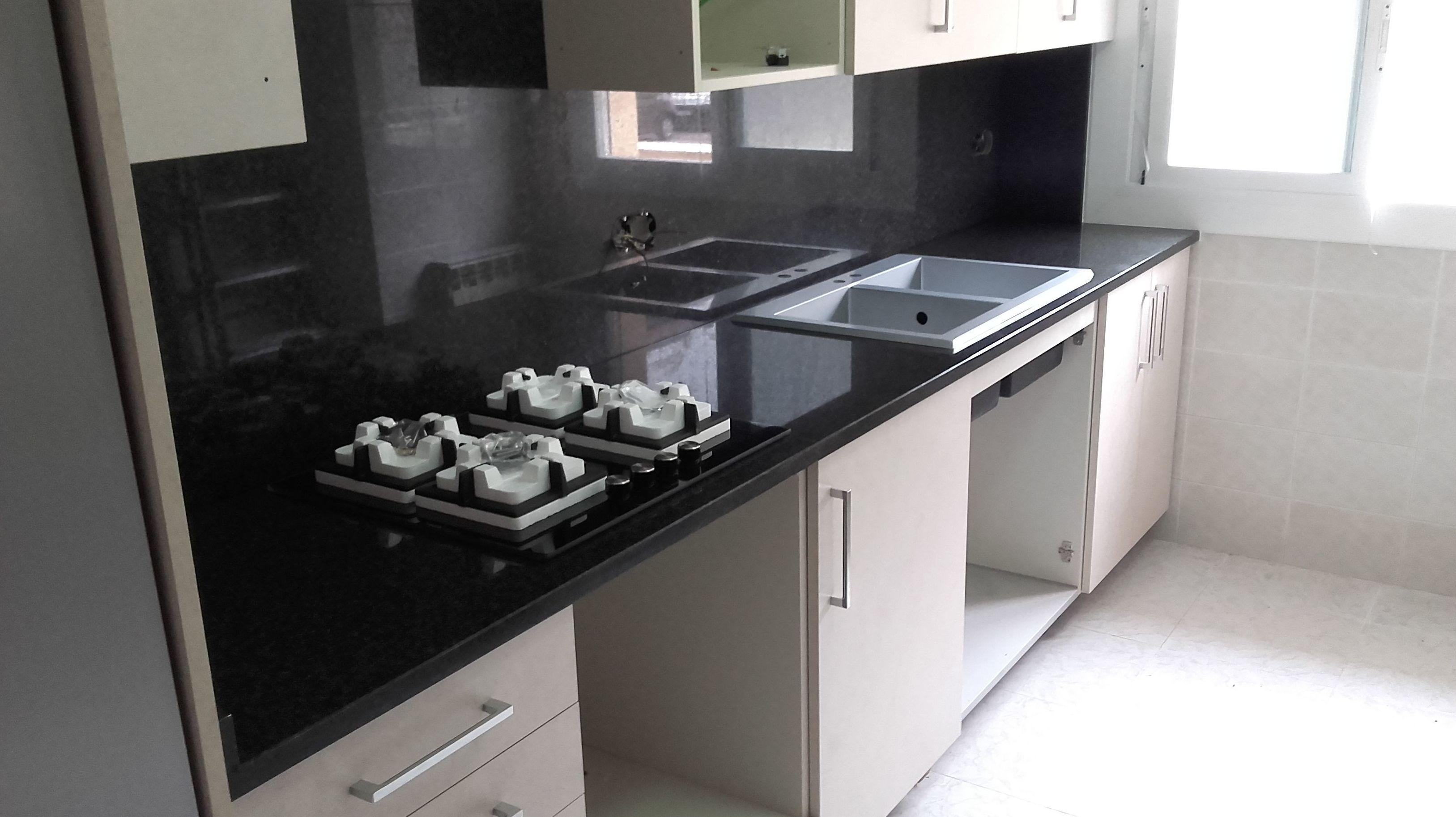 Encimera granito negro encimeras de granito de - Encimera marmol precio ...
