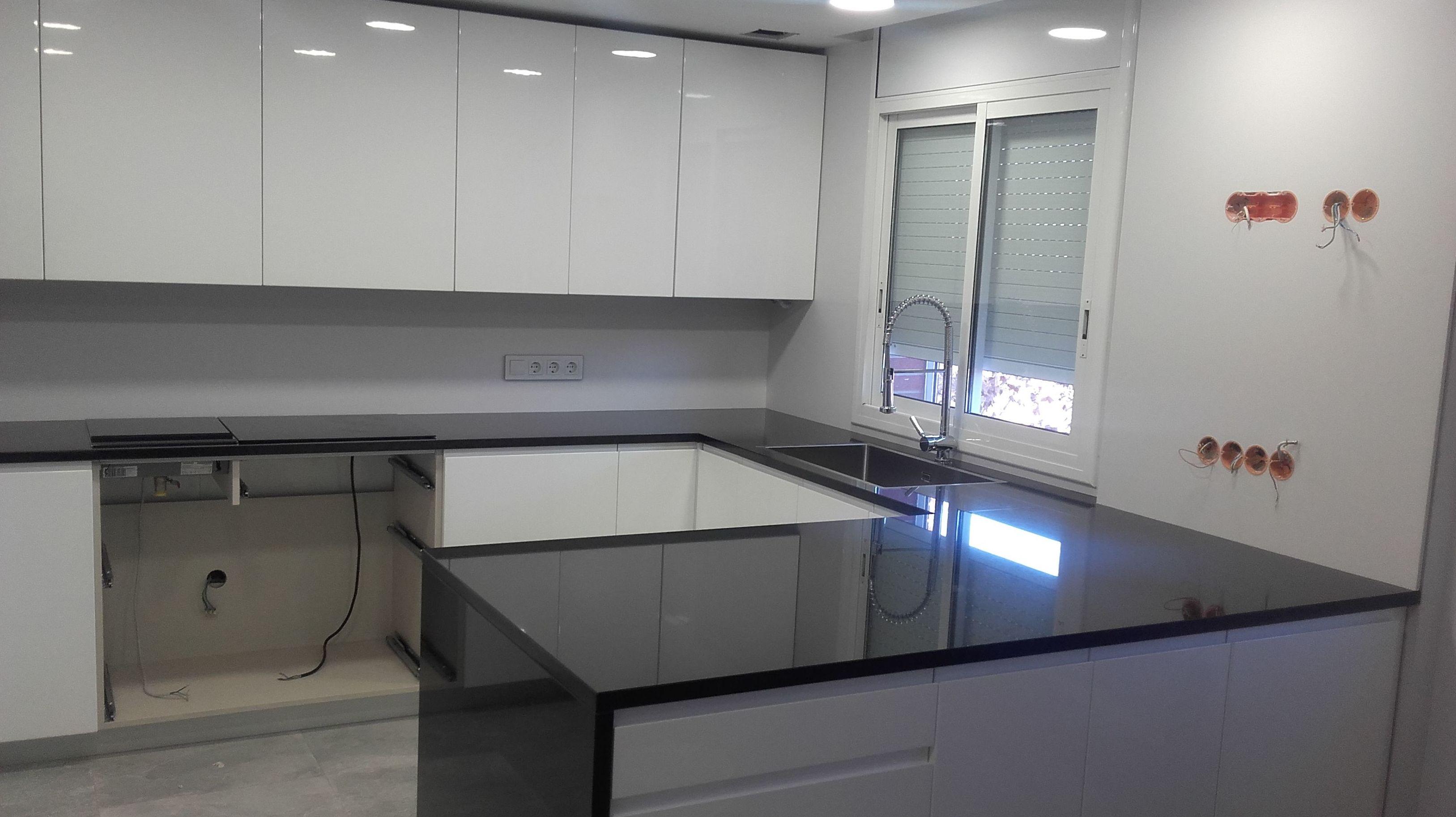Encimera granito blanco cocina encimera granate cocina - Encimera granito blanco ...