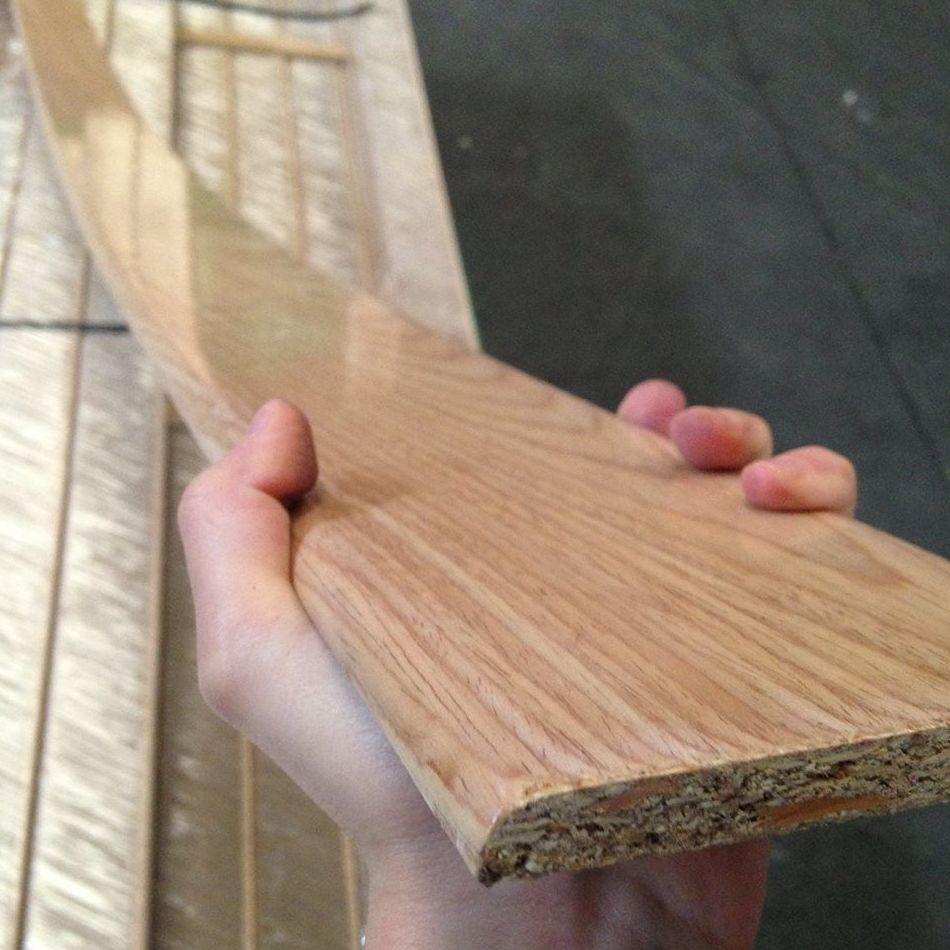 OFERTA zocalo o rodapie chapeado de madera de roble suministro a toda España
