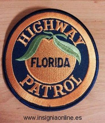 EMBLEMA BORDADO DE LA POLICIA DE FLORIDA
