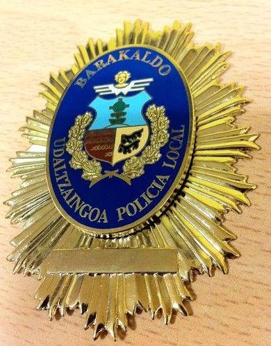 PLACA POLICIA BARAKALDO