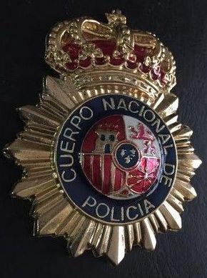 PLACA CUERPO NACIONAL DE POLICIA