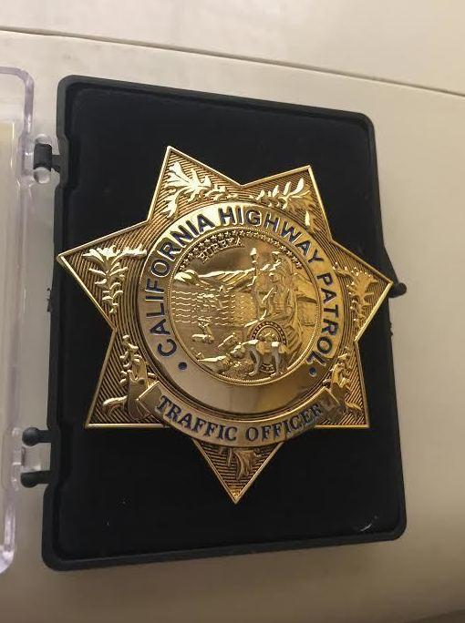 PLACA POLICIA CALIFORNIA