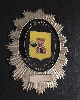PLACA POLICIA MUNICIPAL UGAO-MIRABALLES (VIZCAYA)