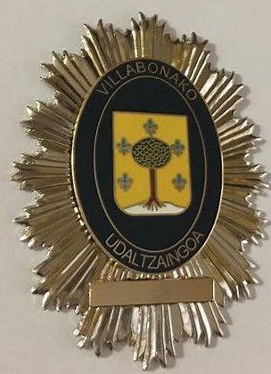 PLACA POLICIA MUNICIPAL VILLABONA-GIPUZKOA