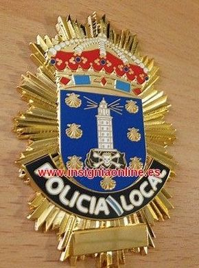 PLACA POLICIA LOCAL A CORUÑA