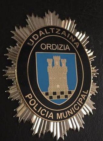 PLACA POLICIA MUNICIPAL ORDIZIA-GUIPUZCOA