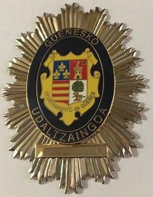 PLACA POLICIA LOCAL GÜEÑES-VIZCAYA