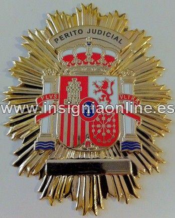 PLACA INSIGNIA DE PERITO JUDICIAL