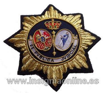 Placa Insignia Secretario Judicial Oro