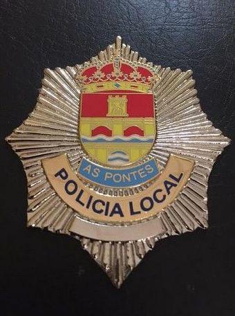 PLACA POLICIA LOCAL AS PONTES (LA CORUÑA)