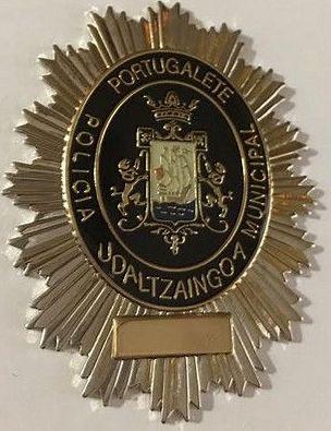 PLACA POLICIA MUNICIPAL PORTUGALETE