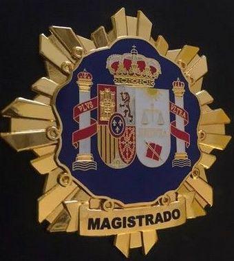 PLACA INSIGNIA METALICA DE MAGISTRADO