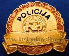 INSIGNIA POLICIA CROACIA