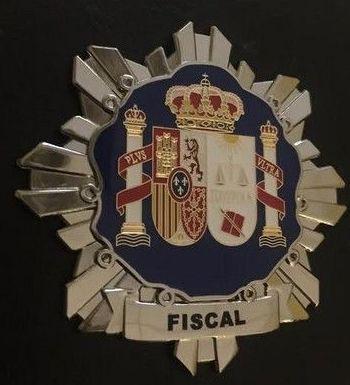 PLACA INSIGNIA DE FISCAL