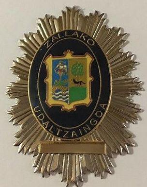 PLACA POLICIA MUNICIPAL DE ZALLA-BIZKAIA