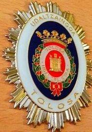 PLACA POLICIA LOCAL DE TOLOSA