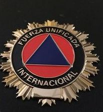 PLACA FUERZA UNIFICADA INTERNACIONAL PROTECCION CIVIL