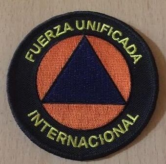 Emblema bordado de Protección Civil Internacional